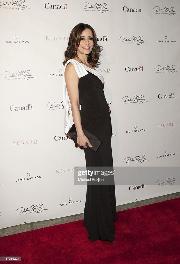 <a gi-track='captionPersonalityLinkClicked' href=/galleries/search?phrase=Emmanuelle+Vaugier&family=editorial&specificpeople=741707 ng-click='$event.stopPropagation()'>Emmanuelle Vaugier</a> attends The Consul General Of Canada Mr. David Fransen Honors Canadian Fashion Designer, Dalia MacPhee on November 7, 2013 in Los Angeles, California.