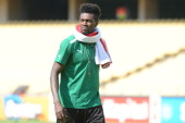 Emmauel Adebayor during the 2013 Orange African Cup of Nations match between Ivory Coast and Togo from Royal Bafokeng Stadium on January 22 2012 in...