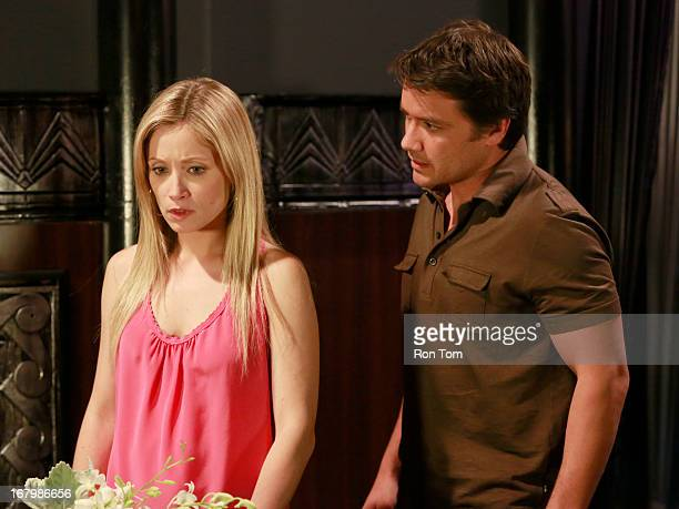 HOSPITAL Emme Rylan and Dominic Zamprogna in a scene that airs the week of May 27 2013 on ABC's 'General Hospital' 'General Hospital' airs...