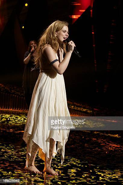Emmelie de Forest of Denmark performs after winning the Eurovision Song Contest 2013 at Malmo Arena on May 18 2013 in Malmo Sweden