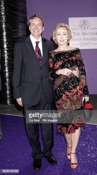 Emmerdale actor John Middleton and Anita Carey arrive for the British Soap Awards at the BBC Television Centre in central London