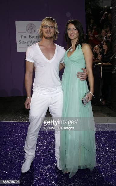 Emmerdale actor Matthew Wolfenden and guest arrive for the British Soap Awards at the BBC Television Centre in central London