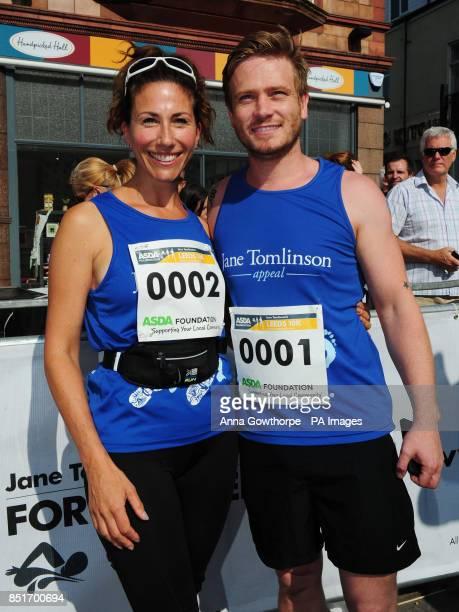 Emmerdale actors Gaynor Faye and Matthew Wolfenden ahead of the Leeds 10k run