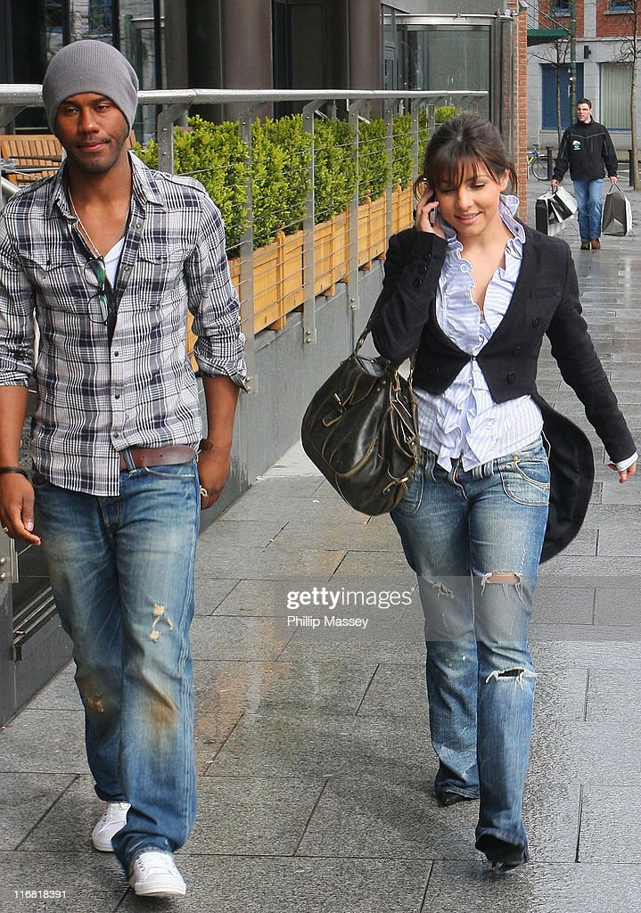 'Emmerdale' actress Roxanne Pallett and guest arrive at her hotel on April 12 2008 in Dublin Ireland