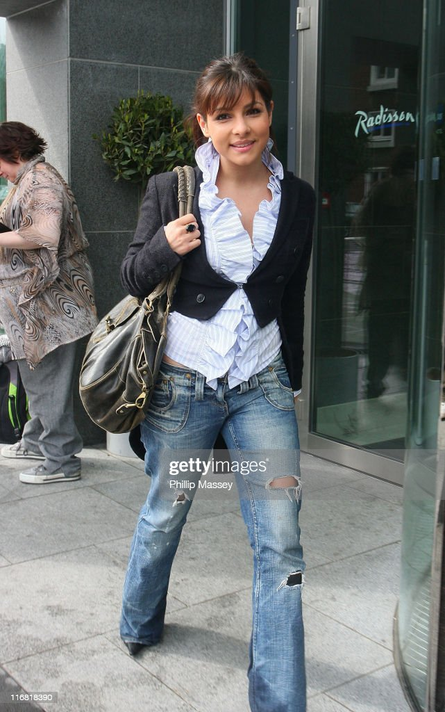 'Emmerdale' actress Roxanne Pallett arrives at her hotel on April 12 2008 in Dublin Ireland
