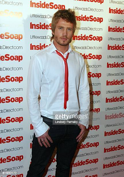 Emmerdale's Matthew Wolfenden arrives for the Inside Soap Awards Launch Party at the John Street Hotel on July 14 2008 in Manchester England
