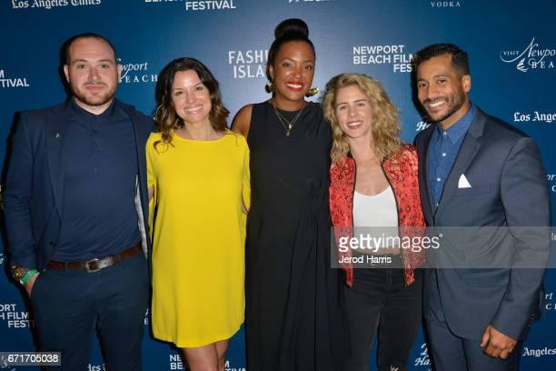 Emmett Hughes Caroline Morahan Aisha Tyler Emily Bett Rickards and Nelson Estevez attend the Newport Beach Film Festival Honors at the Balboa Bay...