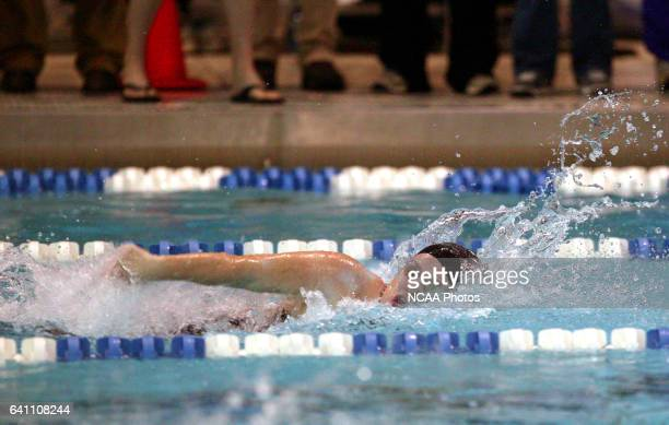 Emmie Dengler of Kenyon swims in the women's 400 yard freestyle relay during the Division 3 Women's Swimming and Diving Championship held at the St...