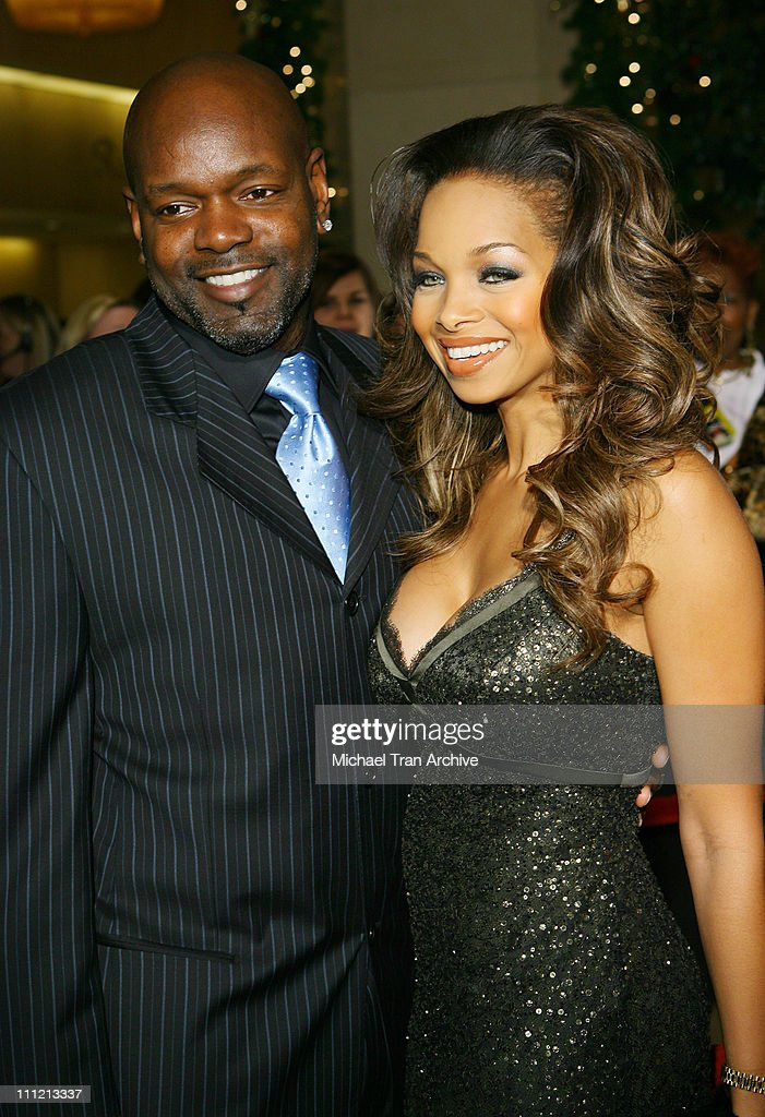 Emmitt Smith and Patricia Southall during 8th Annual Family Television Awards at Beverly Hilton Hotel in Beverly Hills California United States