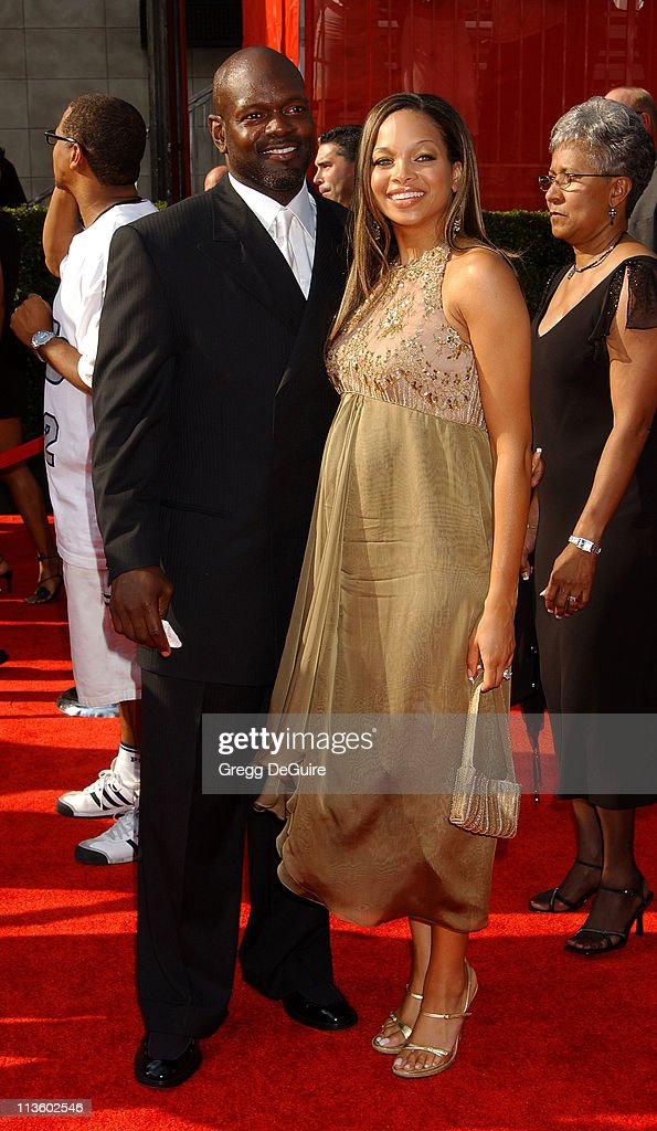 Emmitt Smith and wife during 2003 ESPY Awards Arrivals at Kodak Theatre in Hollywood California United States