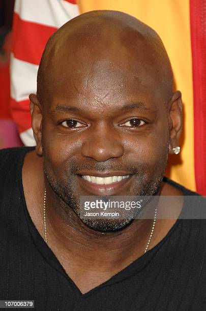 Emmitt Smith during Sarah Furguson and the Finalists Of 'Dancing With The Stars' Visit The Ronald McDonald House November 16 2006 at The Ronald...