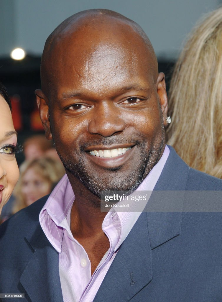 Emmitt Smith during 'The Longest Yard' Los Angeles Premiere Arrivals at Grauman's Chinese Theater in Hollywood California United States