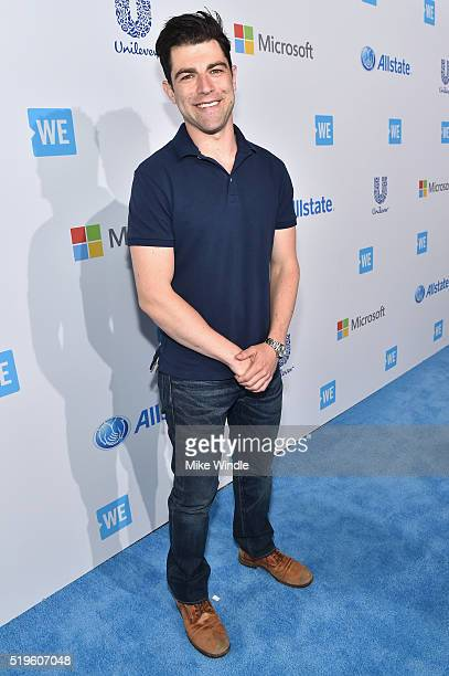 Emmy and Golden Globenominated actor from 'New Girl' and 'Hello My Name is Doris' Max Greenfield walks the WE Carpet at WE Day California 2016 at The...