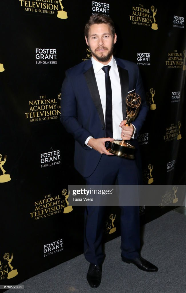 Emmy Award Winner Scott Clifton attends the 44th Daytime Emmy Awards with Foster Grant on April 30, 2017 in Los Angeles, California.
