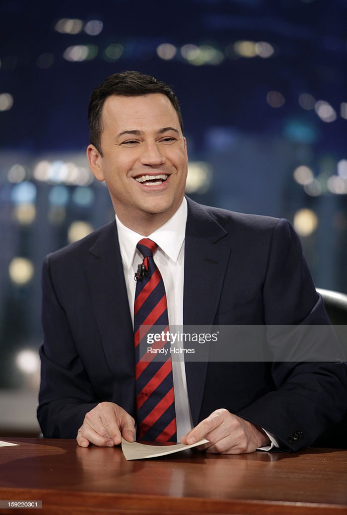 LIVE - Emmy Award-nominated 'Jimmy Kimmel Live' airs every weeknight (11:35 p.m. - 12:41 a.m., ET), packed with hilarious comedy bits and features a diverse lineup of guests including celebrities, athletes, musicians, comedians and humorous human interest subjects. The guests for WEDNESDAY, JANUARY 9 included actor Ryan Gosling ('Gangster Squad'), Will Ferrell and musical guest and panelist Brad Paisley. JIMMY
