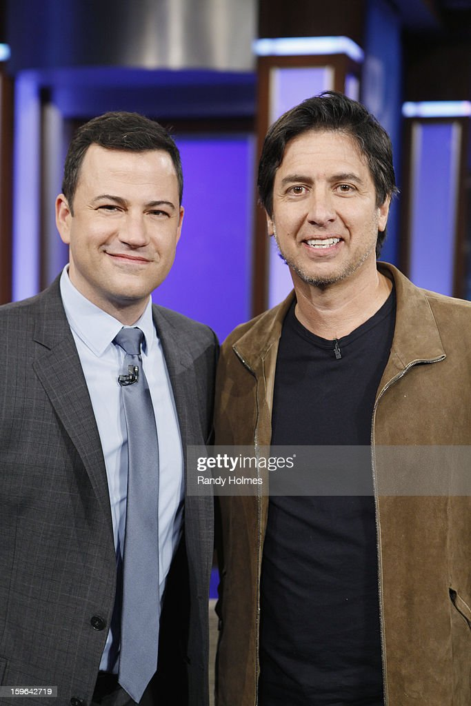 LIVE - Emmy Award-nominated 'Jimmy Kimmel Live' airs every weeknight (11:35 p.m. - 12:41 a.m., ET), packed with hilarious comedy bits and features a diverse lineup of guests including celebrities, athletes, musicians, comedians and humorous human interest subjects. The guests for WEDNESDAY, JANUARY 16 included actor Ray Romano (Madison Garden Foundation event with Wanda Sykes Saturday, January 26th), actress Amy Brenneman ('Private Practice') and musical guest Phillip Phillips. (Photo by Randy Holmes / ABC via Getty Images)) JIMMY