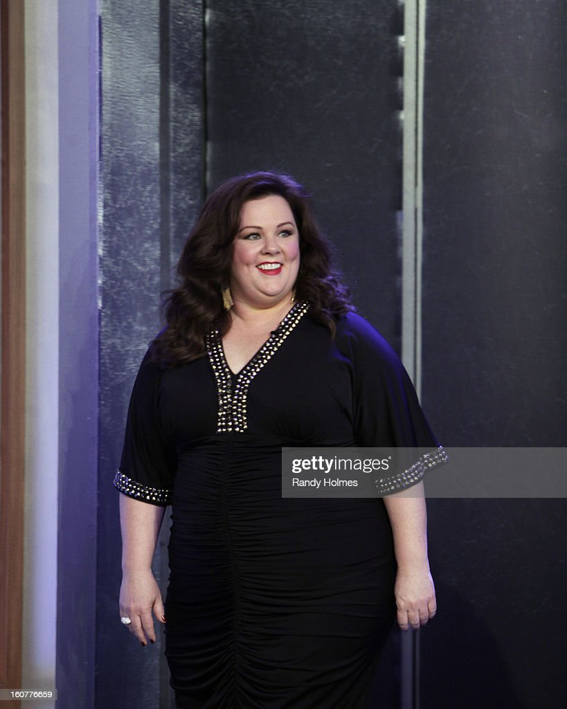 LIVE - Emmy Award-nominated 'Jimmy Kimmel Live' airs every weeknight (11:35 p.m. - 12:41 a.m., ET), packed with hilarious comedy bits and features a diverse lineup of guests including celebrities, athletes, musicians, comedians and humorous human interest subjects. The guests for MONDAY, FEBRUARY 4 included actress Melissa McCarthy ('Identity Thief'), actor Mark Duplass ('Zero Dark Thirty') and musical guest Anita Baker. MELISSA