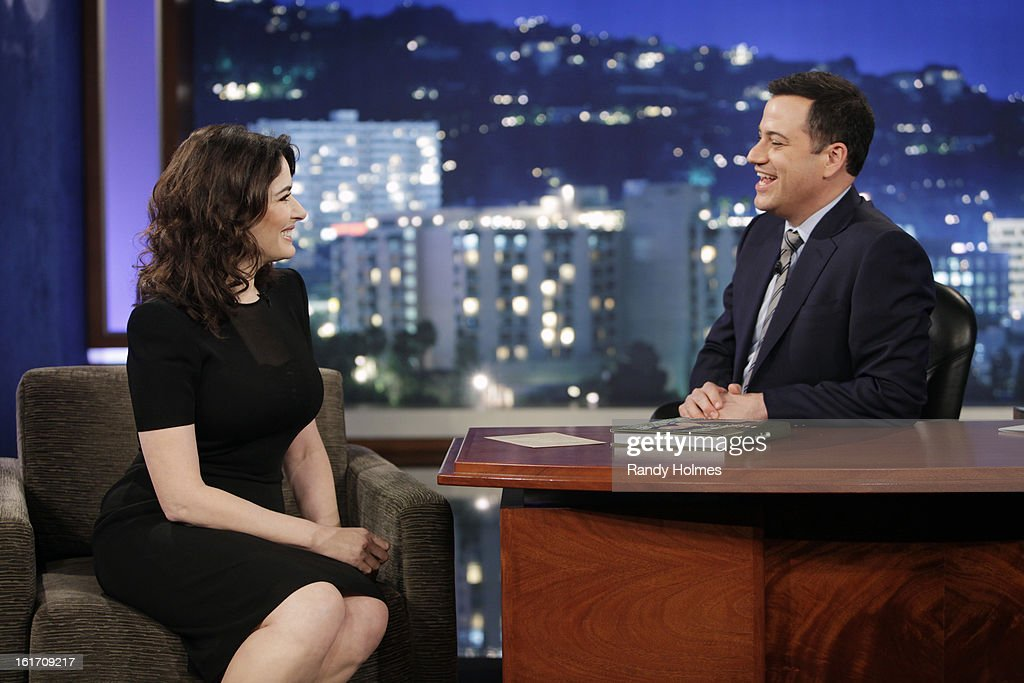 LIVE - Emmy Award-nominated 'Jimmy Kimmel Live' airs every weeknight (11:35 p.m. - 12:41 a.m., ET), packed with hilarious comedy bits and features a diverse lineup of guests including celebrities, athletes, musicians, comedians and humorous human interest subjects. The guests for WEDNESDAY, FEBRUARY 13 included actor James Franco ('Oz: the Great and Powerful'), Chef Nigella Lawson ('The Taste') and musical guest Fall Out Boy. NIGELLA