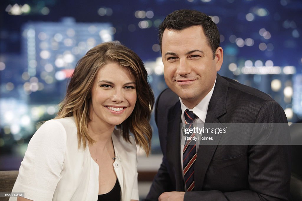 LIVE - Emmy Award-nominated 'Jimmy Kimmel Live' airs every weeknight (11:35 p.m. - 12:41 a.m., ET), packed with hilarious comedy bits and features a diverse lineup of guests including celebrities, athletes, musicians, comedians and humorous human interest subjects. The guests for TUESDAY, MARCH 5 included Actor Zach Braff ('Oz: The Great and Powerful'), Actress Lauren Cohan ('The Walking Dead') and musical guest Sound City Players. LAUREN