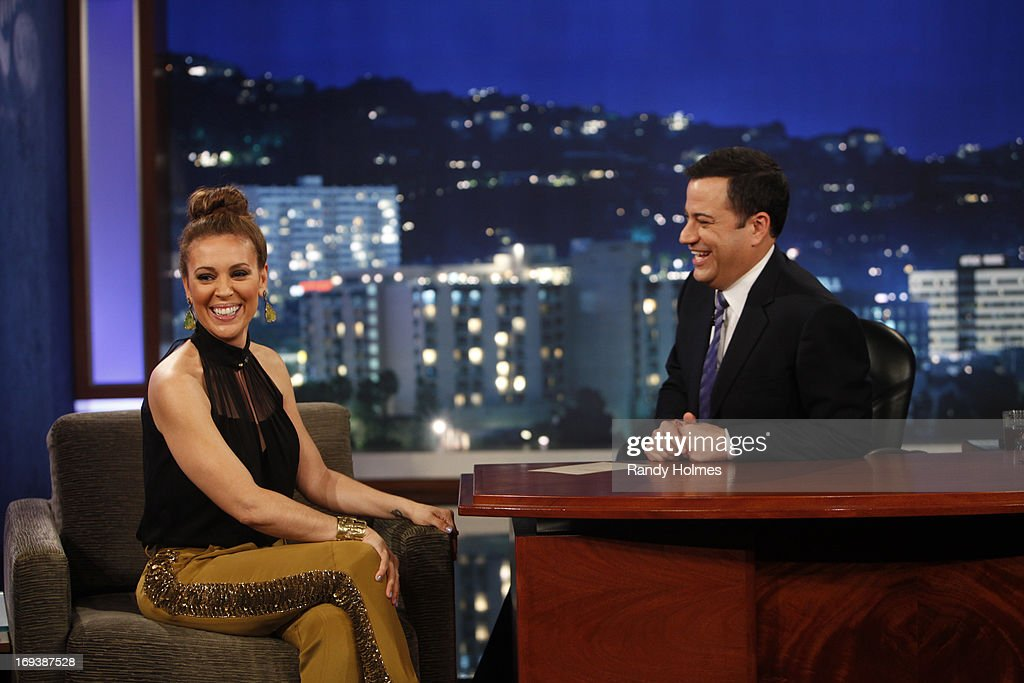 "LIVE - Emmy Award-nominated 'Jimmy Kimmel Live' airs every weeknight (11:35 p.m. - 12:41 a.m., ET), packed with hilarious comedy bits and features a diverse lineup of guests including celebrities, athletes, musicians, comedians and humorous human interest subjects. The guests for WEDNESDAY, MAY 22 included actress Alyssa Milano (""Mistresses'), actor Chris 'Ludacris' Bridges ('Fast & Furious 6') and musical guest Darius Rucker. ALYSSA"