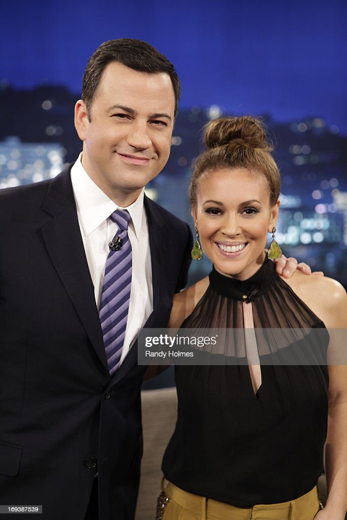 "LIVE - Emmy Award-nominated 'Jimmy Kimmel Live' airs every weeknight (11:35 p.m. - 12:41 a.m., ET), packed with hilarious comedy bits and features a diverse lineup of guests including celebrities, athletes, musicians, comedians and humorous human interest subjects. The guests for WEDNESDAY, MAY 22 included actress Alyssa Milano (""Mistresses'), actor Chris 'Ludacris' Bridges ('Fast & Furious 6') and musical guest Darius Rucker. MILANO"