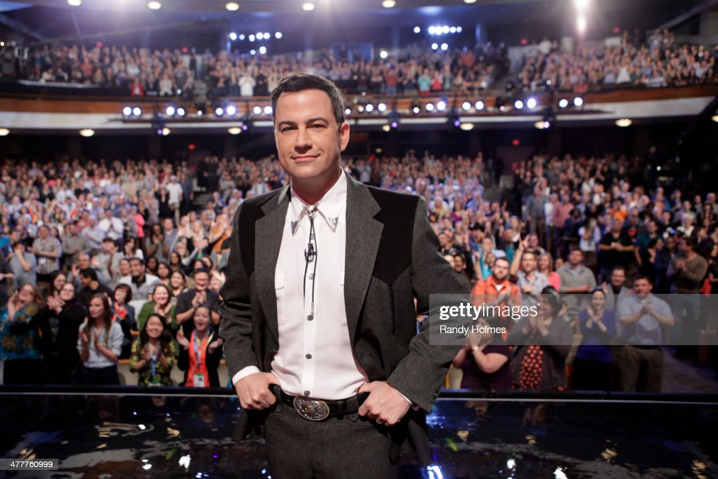 LIVE - Emmy Award-nominated 'Jimmy Kimmel Live' airs every weeknight (11:35 p.m. - 12:41 a.m., ET), packed with hilarious comedy bits and features a diverse lineup of guests including celebrities, athletes, musicians, comedians and humorous human interest subjects. This week, ABC's 'Jimmy Kimmel Live' broadcasts from The Joe R. and Teresa Lozano Long Center for the Performing Arts in Austin, Texas for a week of shows associated with the 28th annual South by Southwest® (SXSW(r)) Festival. The guests for MONDAY, MARCH 10 included actor Seth Rogen ('Neighbors'), rapper/actor Snoop Dogg (1st Annual Wellness Retreat) and musical guest White Denim. (Photo by Randy Holmes/ABC via Getty Images) JIMMY KIMMEL