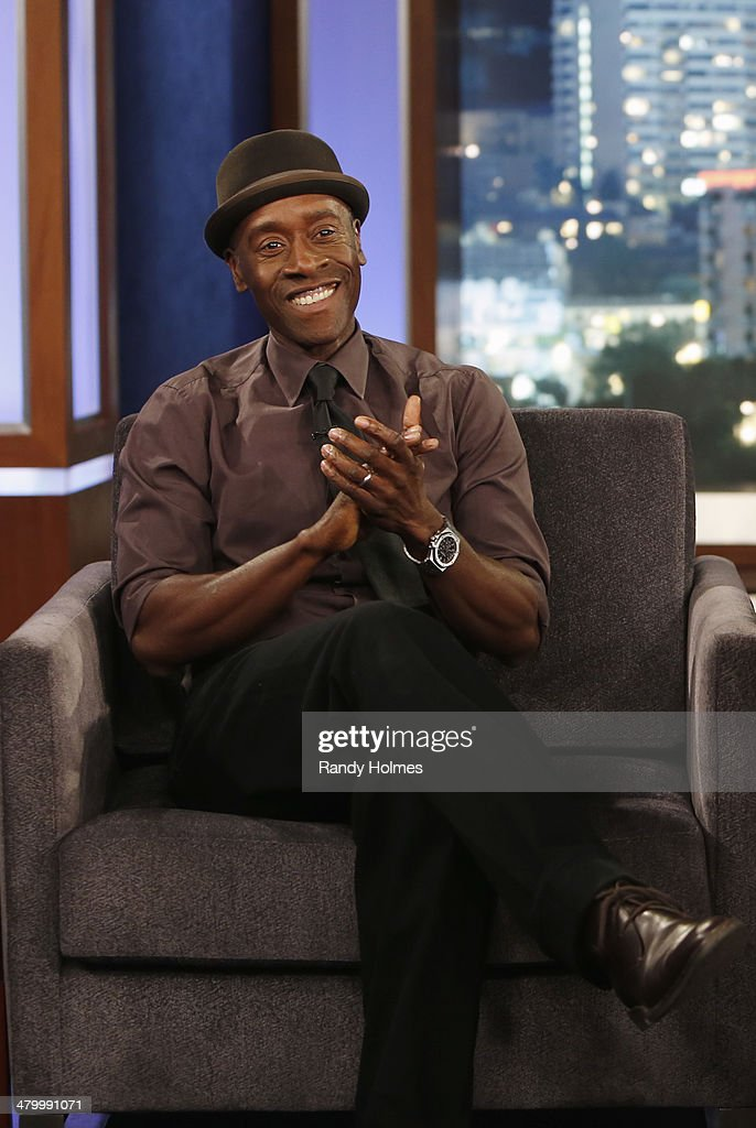 LIVE - Emmy Award-nominated 'Jimmy Kimmel Live' airs every weeknight (11:35 p.m. - 12:41 a.m., ET), packed with hilarious comedy bits and features a diverse lineup of guests including celebrities, athletes, musicians, comedians and humorous human interest subjects. The guests for THURSDAY, MARCH 20 included actor Don Cheadle ('House of Lies'), actor Tony Goldwyn ('Scandal') and musical guest Enrique Iglesias.