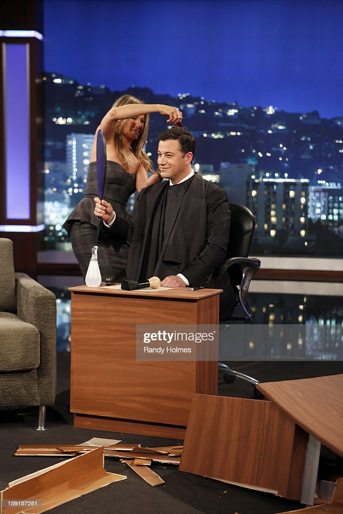 LIVE - Emmy Award-nominated 'Jimmy Kimmel Live' has moved! Tonight was the first installment of the late-night show in its brand new times slot, 11:35PM/10:35PM CT. To kick things off, the guests for TUESDAY, JANUARY 8 included actress Jennifer Aniston and musical guest No Doubt. JENNIFER