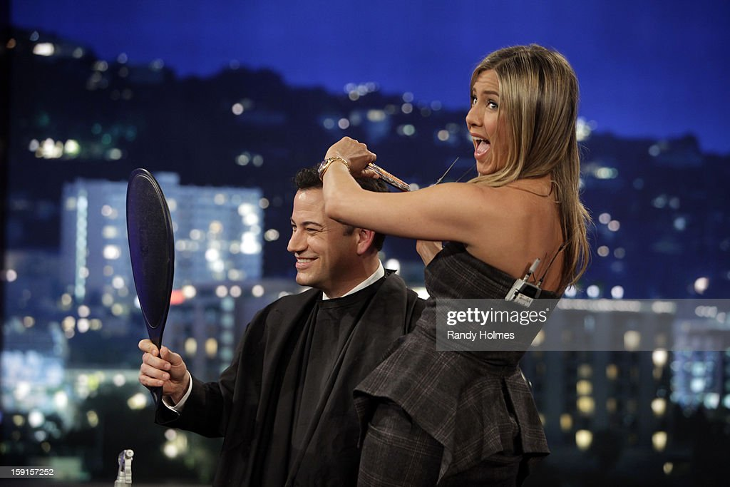 LIVE - Emmy Award-nominated 'Jimmy Kimmel Live' has moved! Tonight was the first installment of the late-night show in its brand new times slot, 11:35PM/10:35PM CT. To kick things off, the guests for TUESDAY, JANUARY 8 included actress Jennifer Aniston and musical guest No Doubt. JIMMY