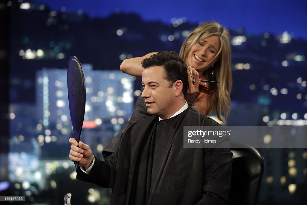 LIVE - Emmy Award-nominated 'Jimmy Kimmel Live' has moved! Tonight was the first installment of the late-night show in its brand new times slot, 11:35PM/10:35PM CT. To kick things off, the guests for TUESDAY, JANUARY 8 included actress Jennifer Aniston and musical guest No Doubt. ANISTON