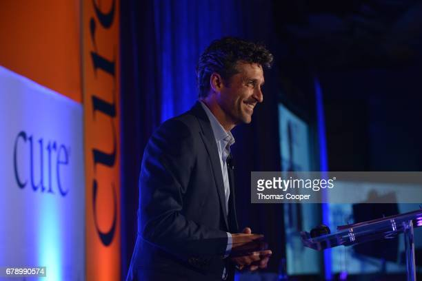Emmy Awardwinning actor Patrick Dempsey speaks to a large crowd of Nurses and Doctors at the 2017 CURE Magazine Extraordinary Healer Award for...
