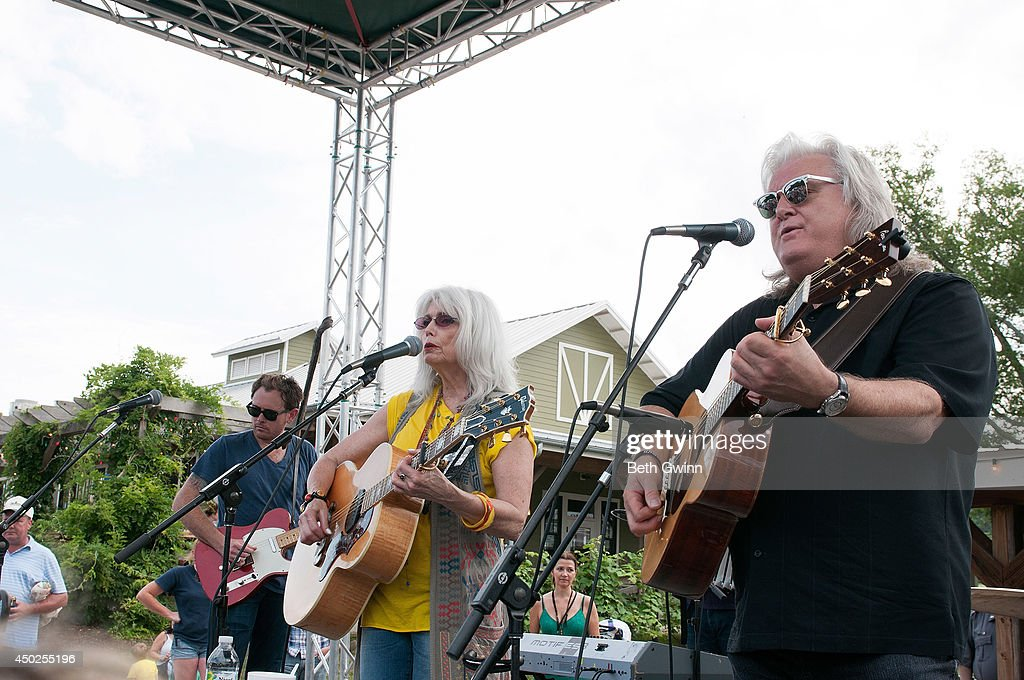 Emmy Lou Harris and <a gi-track='captionPersonalityLinkClicked' href=/galleries/search?phrase=Ricky+Skaggs&family=editorial&specificpeople=2134089 ng-click='$event.stopPropagation()'>Ricky Skaggs</a> play Woofstock at Fontanel 2014 on June 7, 2014 in Nashville, Tennessee.