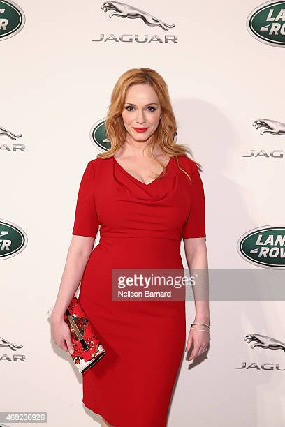 Emmy® nominated actress Christina Hendricks at the Jaguar Land Rover exclusive reception to unveil the 2016 Jaguar XF and Range Rover SVAutobiography...