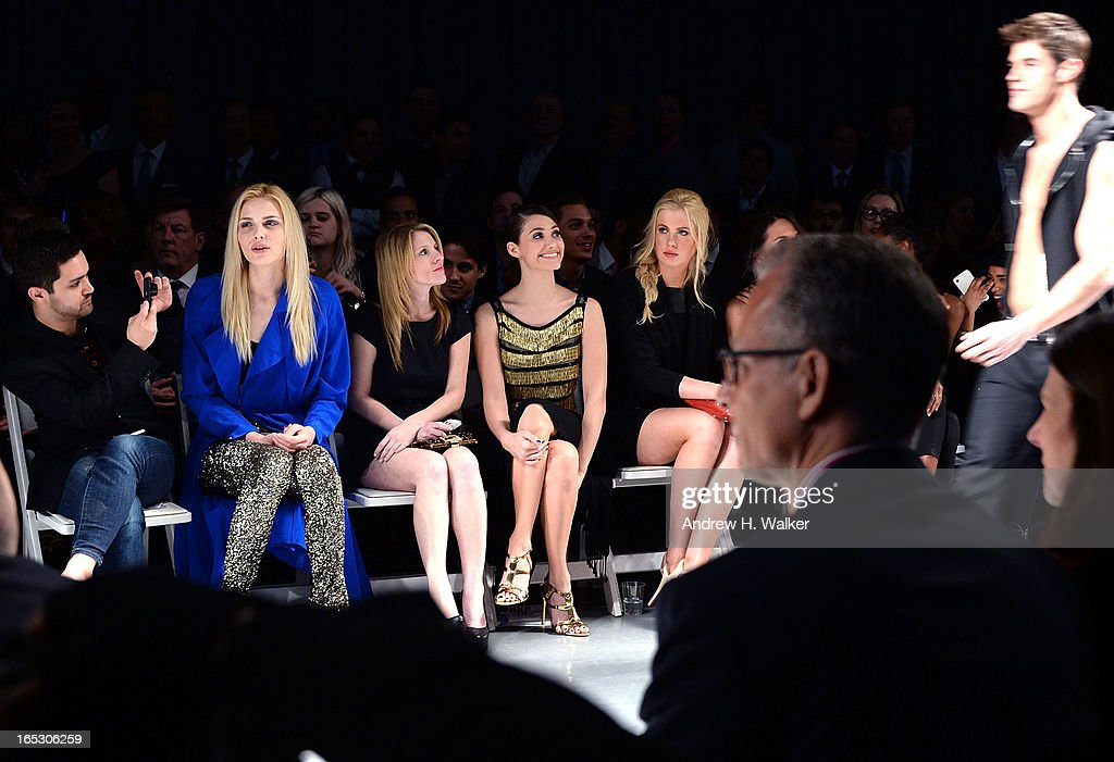 <a gi-track='captionPersonalityLinkClicked' href=/galleries/search?phrase=Emmy+Rossum&family=editorial&specificpeople=202563 ng-click='$event.stopPropagation()'>Emmy Rossum</a> and <a gi-track='captionPersonalityLinkClicked' href=/galleries/search?phrase=Ireland+Baldwin&family=editorial&specificpeople=706248 ng-click='$event.stopPropagation()'>Ireland Baldwin</a> watch a fashion show at the Jeffrey Fashion Cares 10th Anniversary Celebration at The Intrepid on April 2, 2013 in New York City.