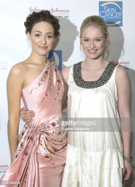 Emmy Rossum and Leven Rambin at The 2007 Skin Sense Award Gala In New York City on October 10 2007