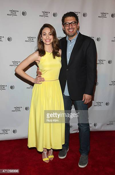 Emmy Rossum and Sam Esmail attend Tribeca Talks After The Movie Mr Robot during the 2015 Tribeca Film Festival at Chelsea Bow Tie Cinemas on April 26...