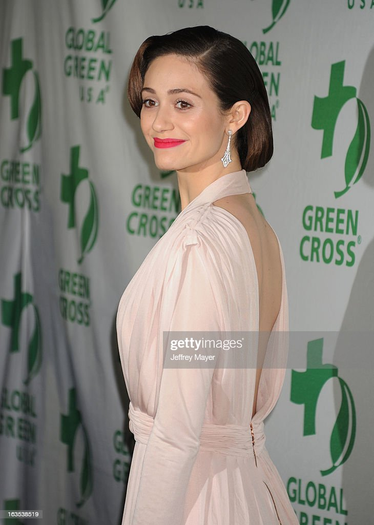 <a gi-track='captionPersonalityLinkClicked' href=/galleries/search?phrase=Emmy+Rossum&family=editorial&specificpeople=202563 ng-click='$event.stopPropagation()'>Emmy Rossum</a> arrives at Global Green USA's 10th Annual Pre-Oscar party at Avalon on February 20, 2013 in Hollywood, California.