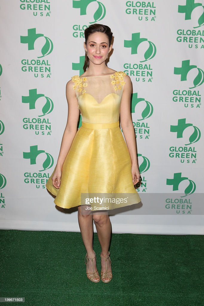 Emmy Rossum arrives at Global Green USA's 9th Annual PreOscar Party at Avalon on February 22 2012 in Hollywood California