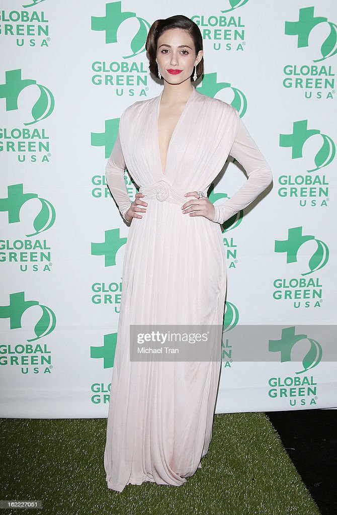 <a gi-track='captionPersonalityLinkClicked' href=/galleries/search?phrase=Emmy+Rossum&family=editorial&specificpeople=202563 ng-click='$event.stopPropagation()'>Emmy Rossum</a> arrives at the Global Green USA's 10th Annual pre-Oscar party held at Avalon on February 20, 2013 in Hollywood, California.