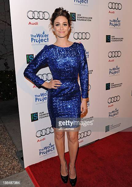 Emmy Rossum arrives at 'The Ripple Effect' Benefitting the Water Project at Sunset Luxe Hotel on December 10 2011 in Los Angeles California