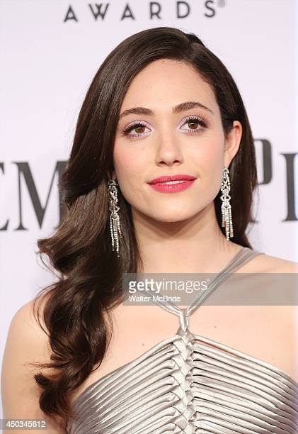 Emmy Rossum attends American Theatre Wing's 68th Annual Tony Awards at Radio City Music Hall on June 8 2014 in New York City