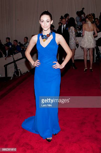 Emmy Rossum attends 'American Woman Fashioning A National Identity' Costume Institute Gala at The Metropolitan Museum of Art in New York City
