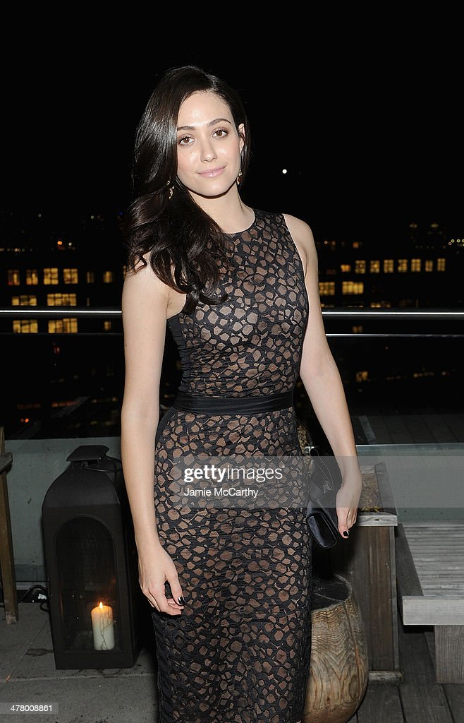 Emmy Rossum attends DreamWorks Picture' 'Need For Speed' screening hosted by The Cinema Society and Bushmill's after party at Jimmy At The James Hotel on March 11, 2014 in New York City.