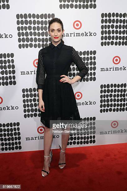 Emmy Rossum attends Marimekko For Target Launch Celebration at The High Line on April 7 2016 in New York City
