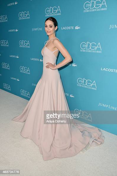 Emmy Rossum attends the 17th Costume Designers Guild Awards at The Beverly Hilton Hotel on February 17 2015 in Beverly Hills California