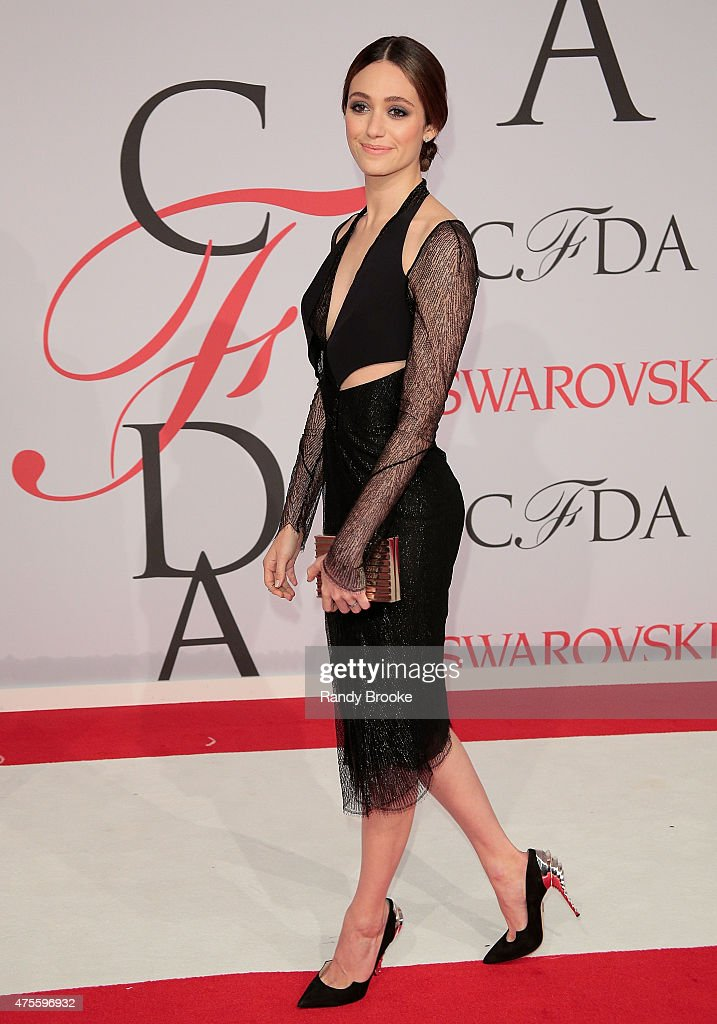 Emmy Rossum attends the 2015 CFDA Fashion Awards at Alice Tully Hall at Lincoln Center on June 1, 2015 in New York City.