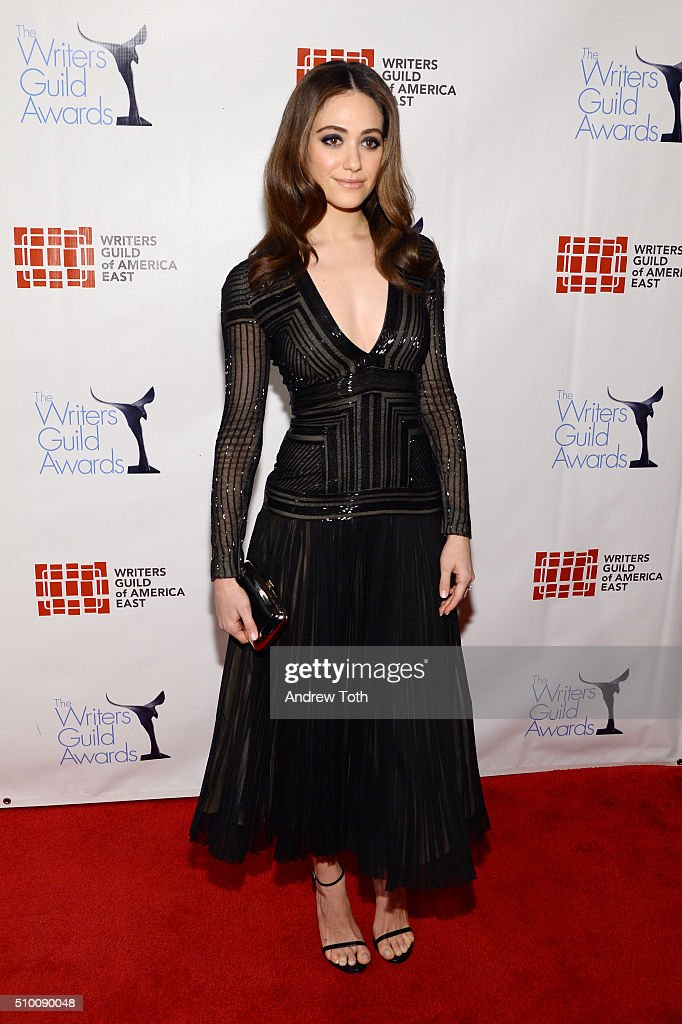 Emmy Rossum attends the 2016 Writers Guild Awards New York Ceremony at The Edison Ballroom on February 13 2016 in New York City
