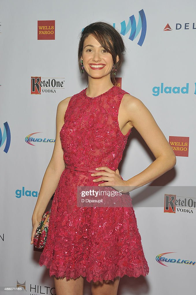 <a gi-track='captionPersonalityLinkClicked' href=/galleries/search?phrase=Emmy+Rossum&family=editorial&specificpeople=202563 ng-click='$event.stopPropagation()'>Emmy Rossum</a> attends the 25th Annual GLAAD Media Awards In New York on May 3, 2014 in New York City.