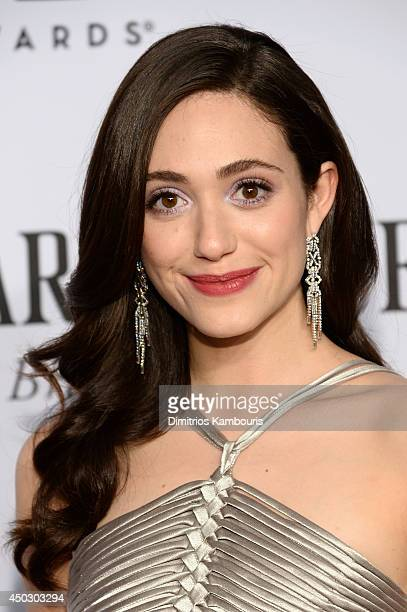 Emmy Rossum attends the 68th Annual Tony Awards at Radio City Music Hall on June 8 2014 in New York City