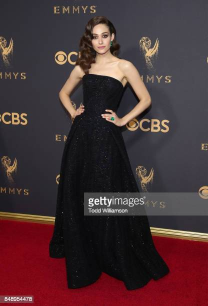 Emmy Rossum attends the 69th Annual Primetime Emmy Awards at Microsoft Theater on September 17 2017 in Los Angeles California